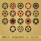 Pentagon pointers — Stockvector