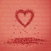 Chute de coeurs — Vecteur
