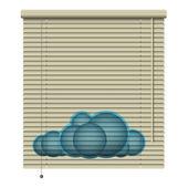 Bewolkt sluiter — Stockvector