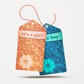 Girl boy — Stock Vector