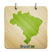 Brazil badge — Stock Vector