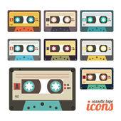 Ensemble cassette — Vecteur