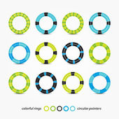 Colorful rings — Stock Vector