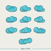 Ten clouds — Stock Vector
