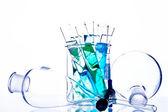 Cristalería química — Foto de Stock