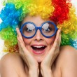 Girl in color wig - Foto Stock