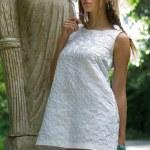 Woman in dress — Stock Photo
