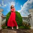 Woman in a red dress — Stock Photo #12603257