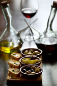 Spanish appetizers on table — Stock Photo