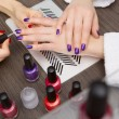 Women do manicure - Stock Photo