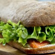 Sandwich with salmon - Stock Photo