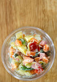 Fresh vegetable salad — Zdjęcie stockowe