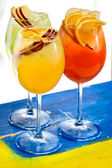 Two glasses with cocktails — Stock Photo