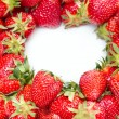 Lot of red strawberries - Stock Photo