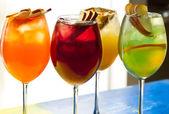 Four glasses of cold tea — Stock Photo