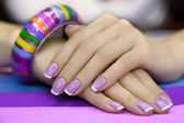 Beautiful women's manicure — Stock Photo