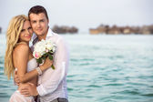 Newlywed couple — Foto Stock