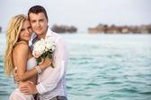 Novomanželský pár — Stock fotografie