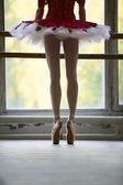 Ballerina near barre — Stock Photo