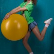Girl with ball — Stock Photo #8578433