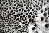 Industrial paper tubes. — Stock Photo