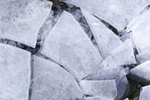 Cracked ice — Stock Photo