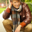 Male model outdoors - Stock Photo