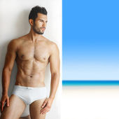 Sexy handsome man in underwear — Stock Photo