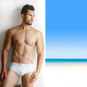 Sexy handsome man in underwear — Stock Photo