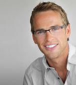 Gözlüklü adam — Stok fotoğraf