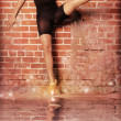 Dancing girl - Stockfoto