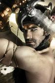 Warrior in actie — Stockfoto