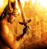 Gouden soldaat — Stockfoto