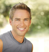 Smiling male — Stock Photo