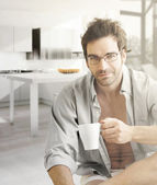 Hot guy in morning — Stock Photo