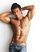 Male model shirtless — Foto Stock