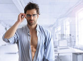 Sexy business guy — Stock Photo