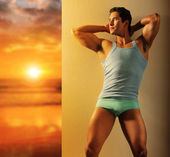 New dawn of male — Stock Photo