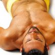 Relaxing sexy guy — Stock Photo