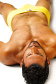 Relaxing sexy guy — Stockfoto