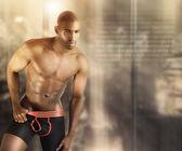 Hot male model — Stock Photo