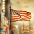 Old Glory in the city — Stock Photo