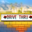 Old drive-thru sign - Stock Photo