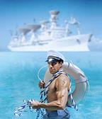 Sexy sailor guy — Stock Photo
