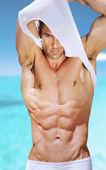Sexy přizpůsobit muž — Stock fotografie