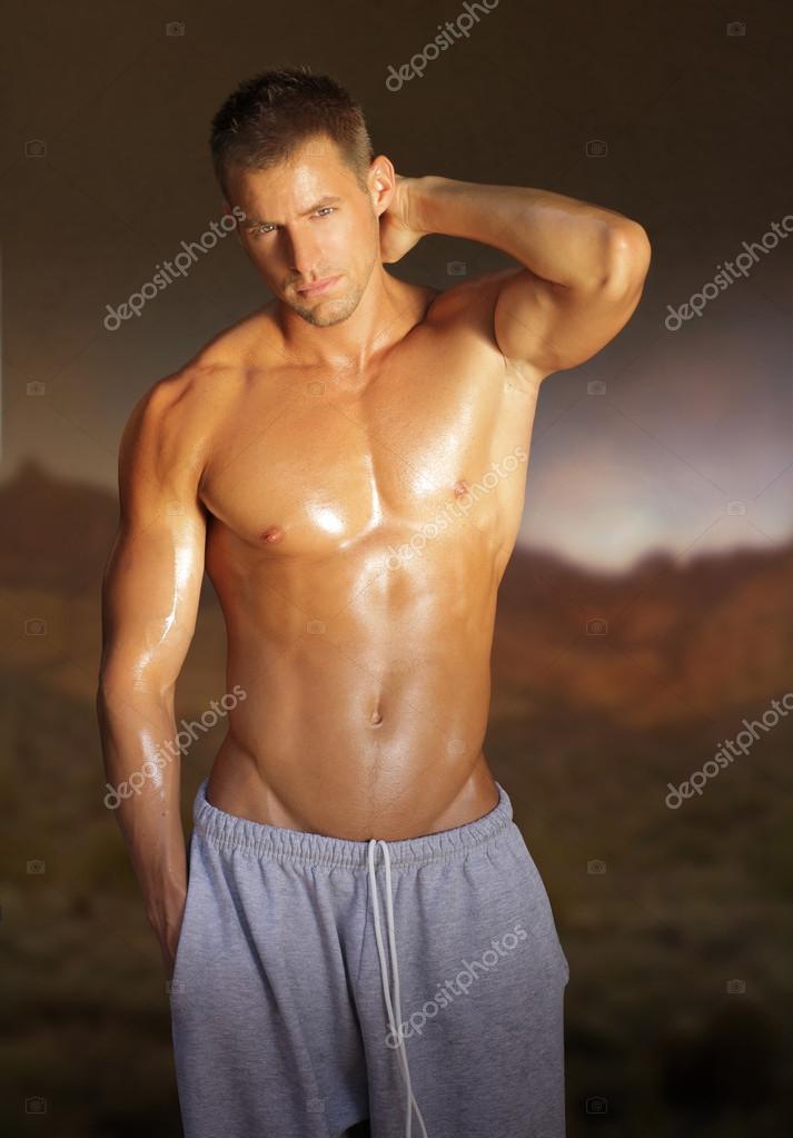 年轻肌肉男模特 - originoo锐景创意 - 全国领先的