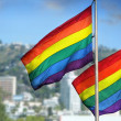 Rainbow flags — Stock Photo
