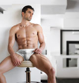 Sexy man in underwear — Stock Photo