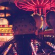 Fun Carnival at Night — Stock Photo