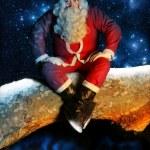 Santa and Snow at night — Stock Photo #8471028
